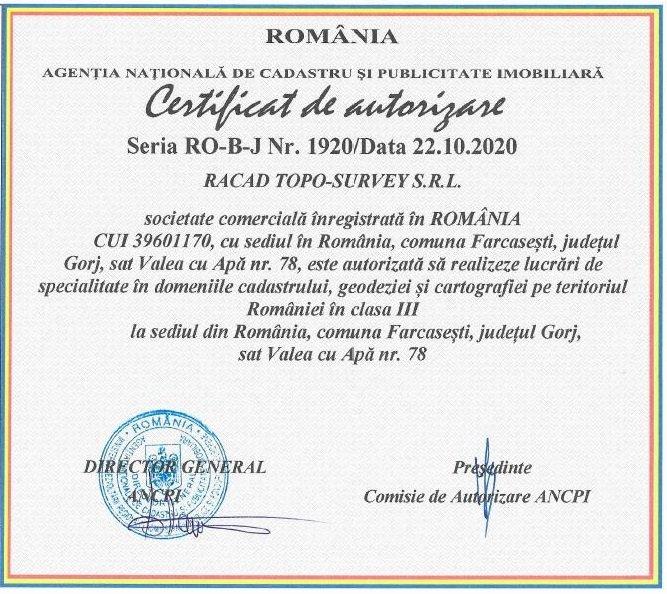 CertificatAutorizareANCPI